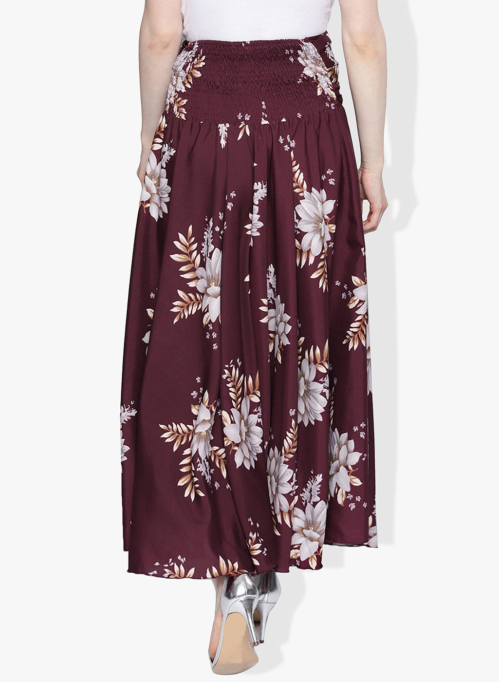 Floral Print Burgundy palazzo