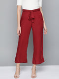 Maroon Straight Pants