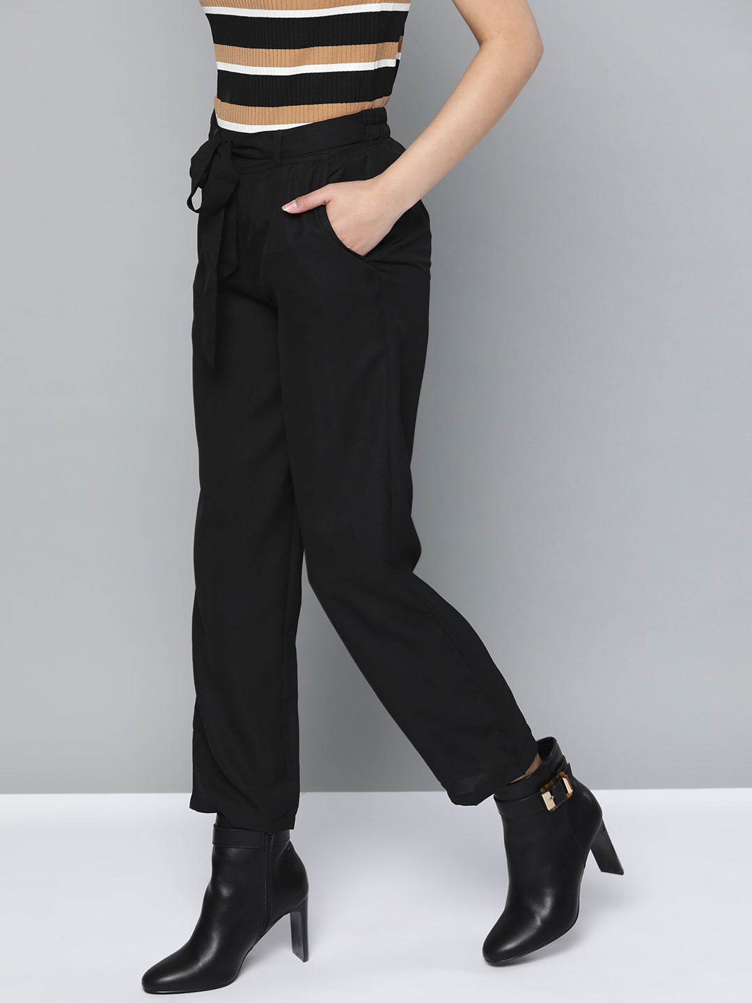 Black Straight Pants