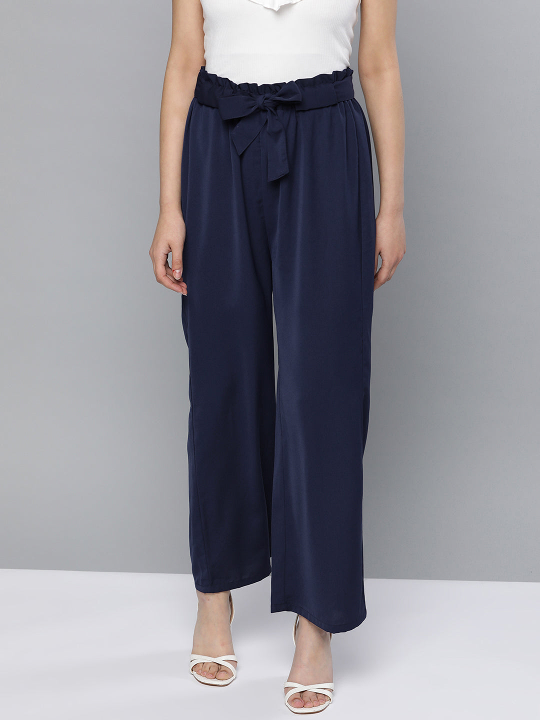 Paper Bag Wide Pants