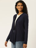 Solid Navy Shrug