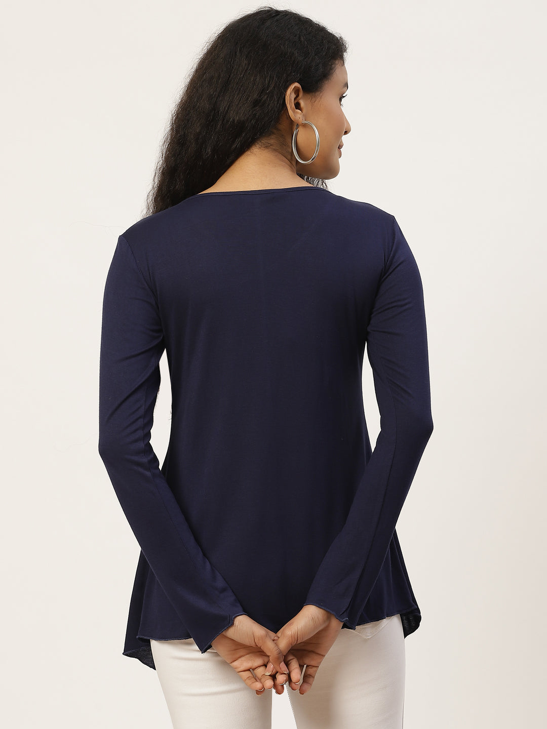 Solid Navy Blue Shrug