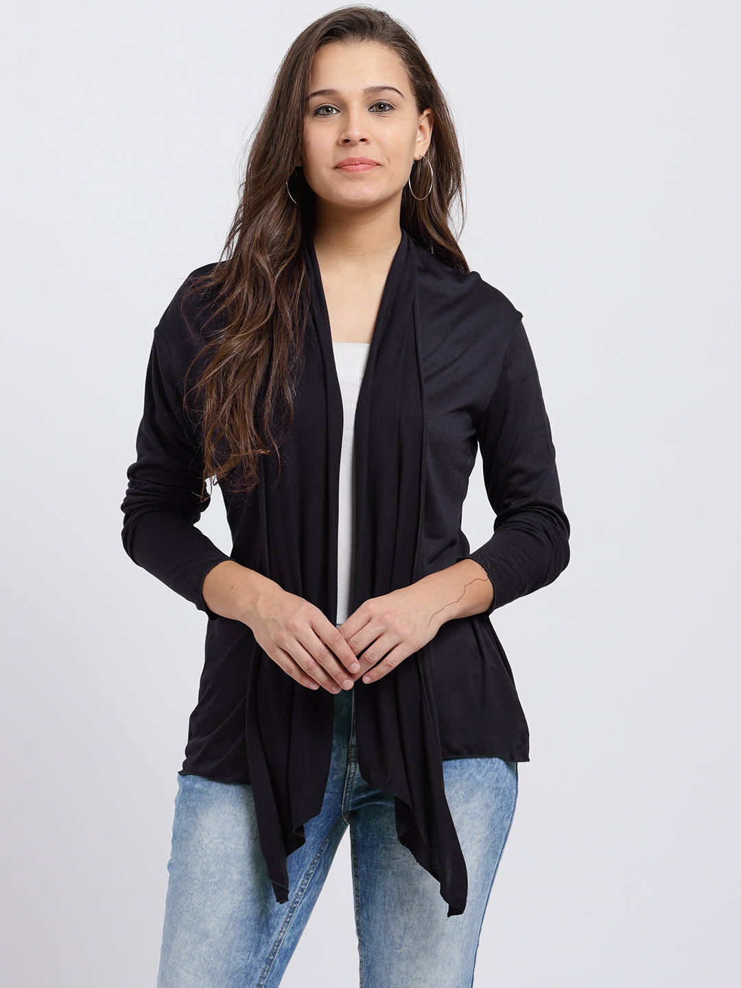 Women Charcoal Grey Shrug