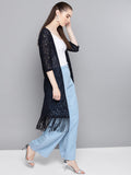 Lace Fringes Shrug
