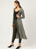 Moss Green Solid Long Shrug