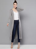 Grey Solid Long Shrug