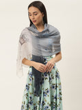 Printed Grey Scarf