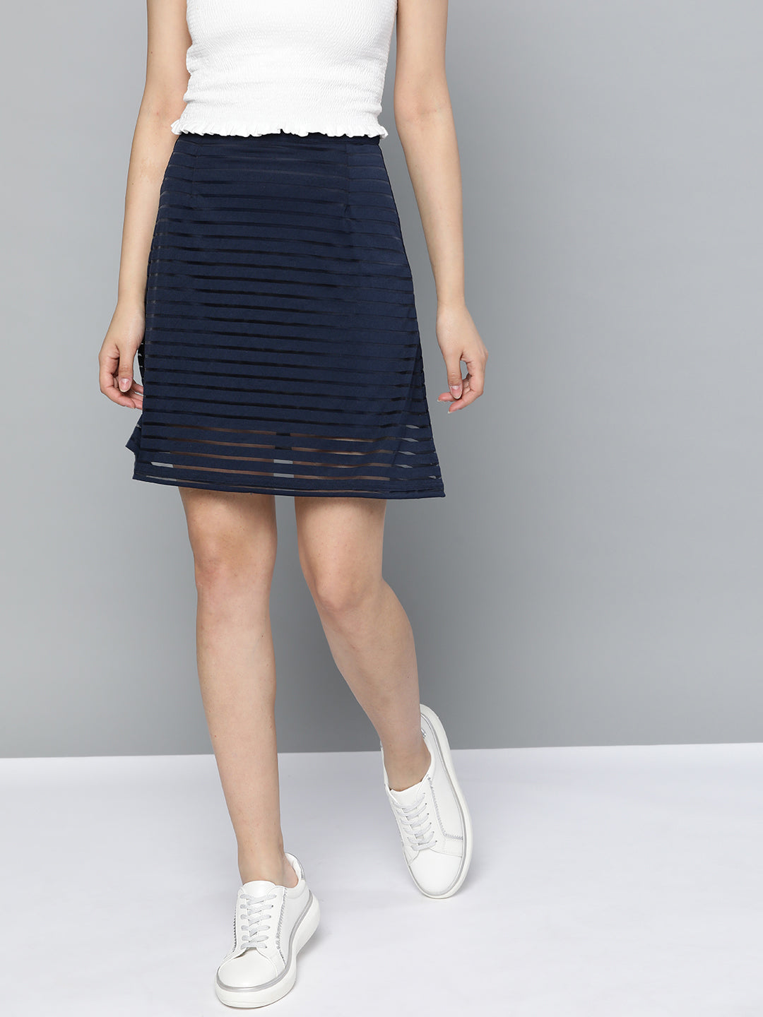 Stripe On Stripe Skirt
