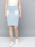 Pencil Fit Denim Skirt