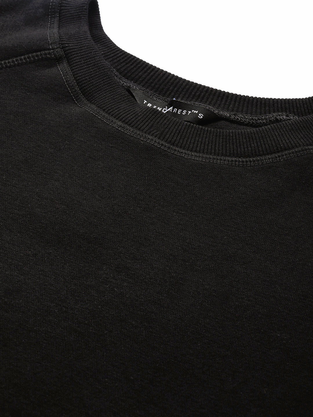 Round Neck Black SweatShirt