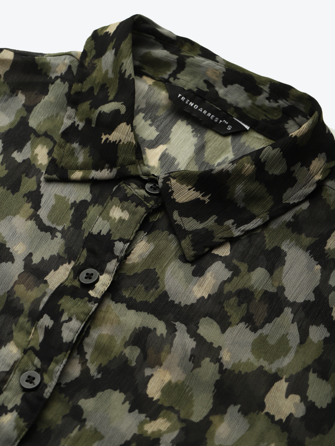 Camouflage Sheer Shirt