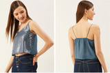 Blue sequin Party Top