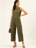Front Button Boiler Suit