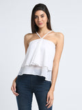 Solid Layered Halter Neck Top