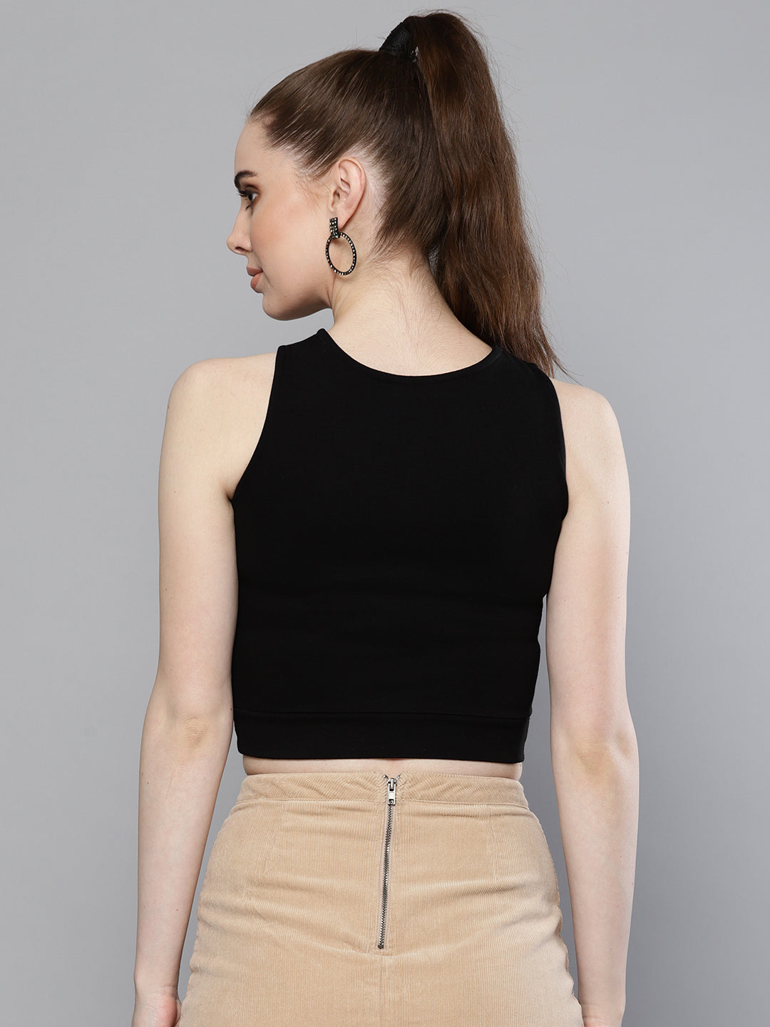 Solid Black Party Top