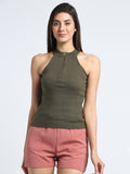 Sleeveless Front Zip Top