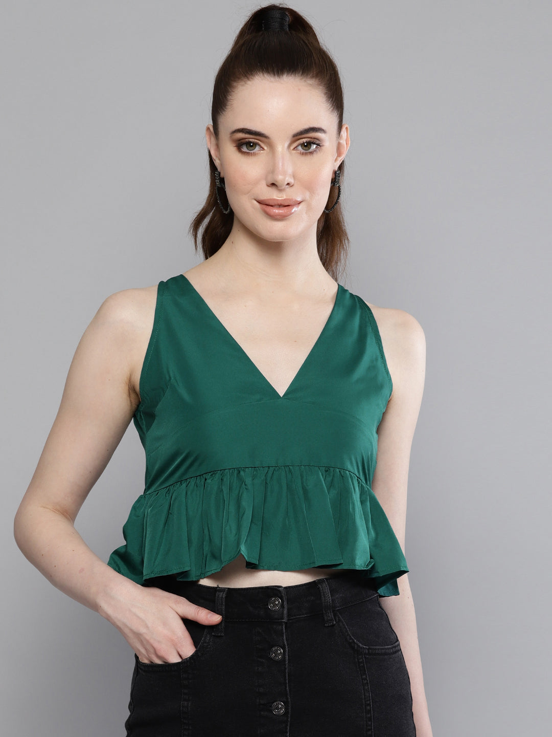 Solid Green Lush Top