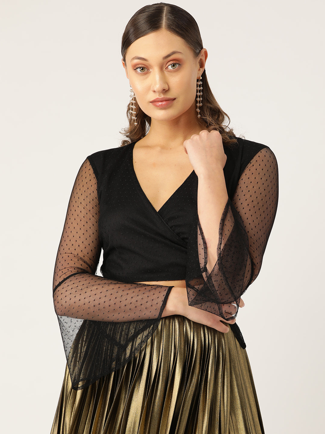 Wraped Lace Black Top