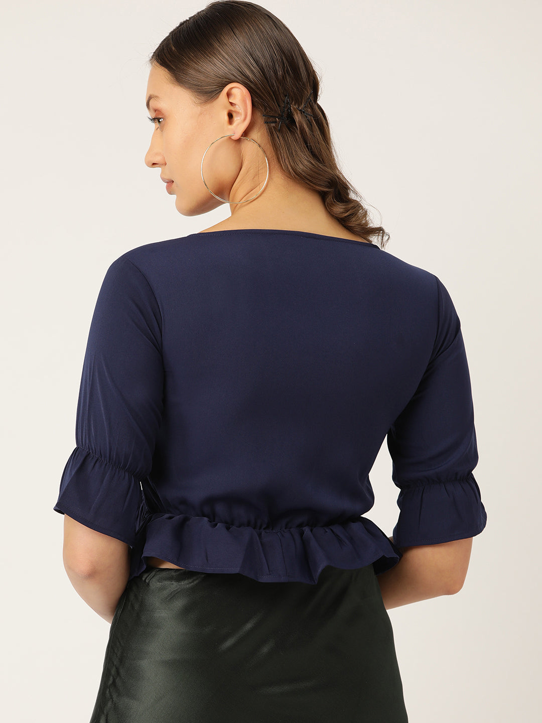 Blue Blouson Top