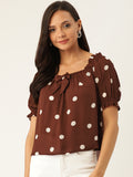 Polka Dot Casual Top