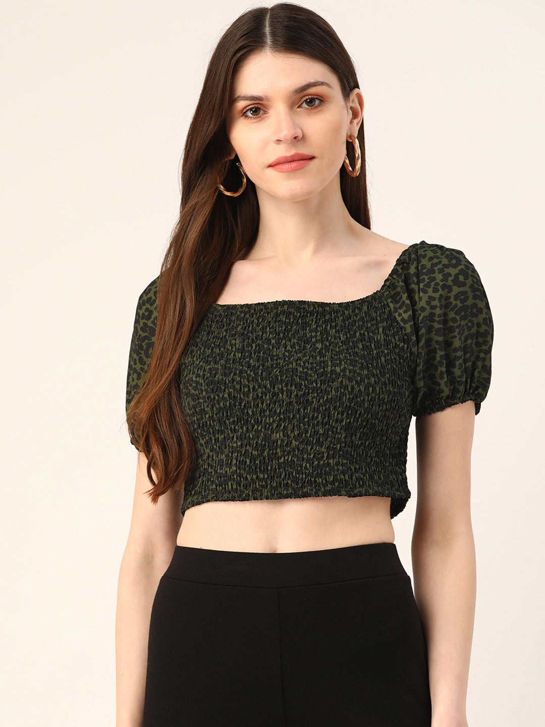 Green Bodycon Crop Top