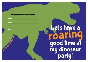 Free dinosaur birthday party invitation designs test dino dinosaur birthday party invitation design t rex blue and green filmwisefo