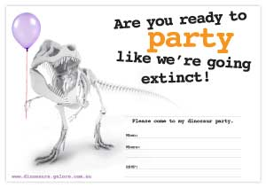 picture relating to Dinosaur Party Invitations Free Printable known as No cost Printables Dinosaurs Galore