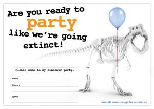 photo about Dinosaur Party Invitations Free Printable titled Absolutely free Printables Dinosaurs Galore