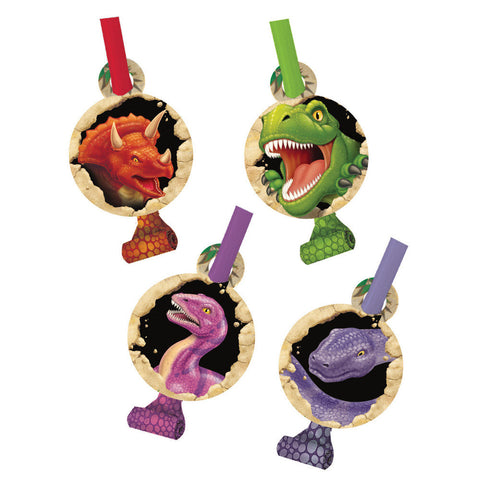 Dino Blast Blowouts with Medallions pack of 8