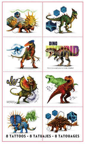 Jurassic World Tattoos Pk8