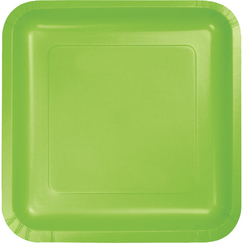 Plate square paper in fresh Lime 18Pk