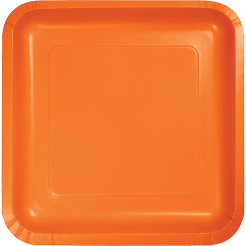 Plates square in SunKissed Orange 18Pk