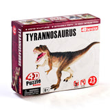 Tyrannosaurus Puzzle 4D with 23 parts