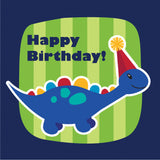 Little Dino Napkins pk16-Happy Birthday