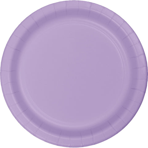 Luncheon Plate Round Luscious Lavender 24pc