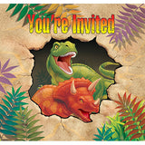 Birthday Invitations Cards by Dino Blast  pack of 8