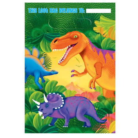Prehistoric Party Loot Bags Pk8