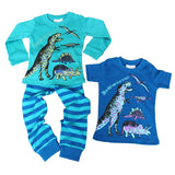 Dinosaur Long Johns and T'Shirt 3pc PJ set - but we don't want to go to bed!