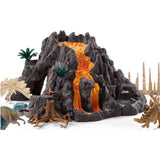 Giant Volcano with TRex Schleich & friends