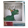 Happy Birthdaysaurus Card with a science experiment inside