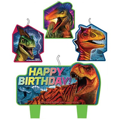 Jurassic World Candle Set happy Birthday Pk4
