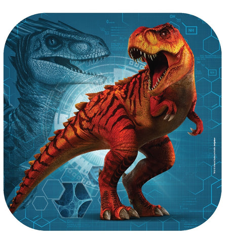 Jurassic World Dinner Plates Square Pk8