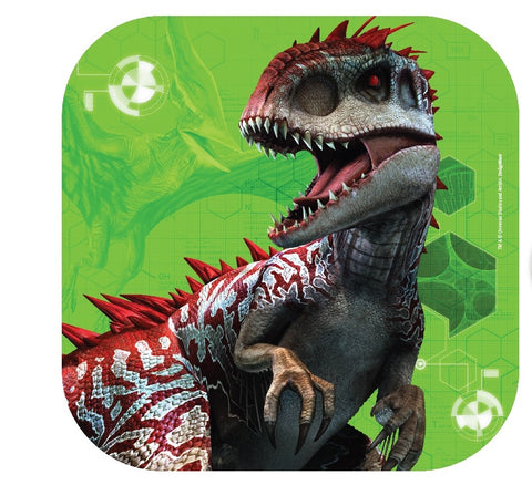 Jurassic World Luncheon Plates - Square Pk8