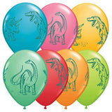 Dinosaurs in Action Balloons 28cm Pk 10,12 or 24