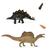 Stegosaurus & Spinosaurus with tooth & tail spike-Box set