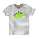 Stegosaurus T Shirt with grey stripe