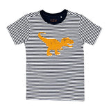 T Rex T Shirt with navy stripe