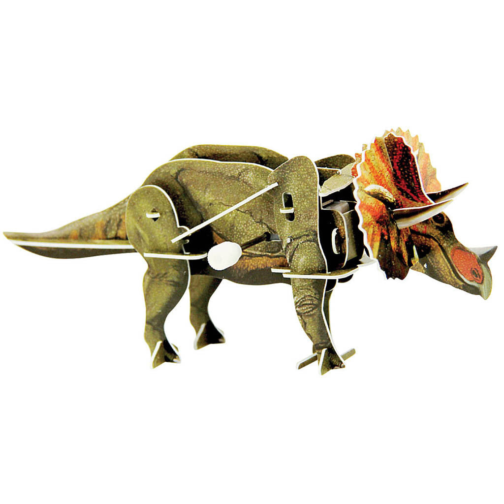 wind up 3d dinosaur puzzle triceratops dinosaurs galore