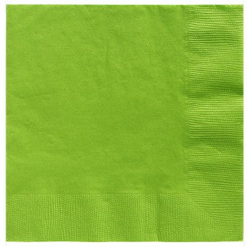 Lime green beverage napkins Pk20