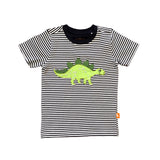 Stegosaurus T Shirt with navy stripe